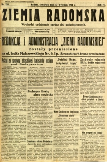 Ziemia Radomska, 1931, R. 4, nr 213