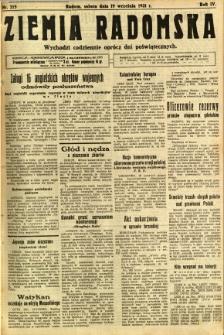 Ziemia Radomska, 1931, R. 4, nr 215
