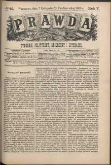 Prawda : tygodnik polityczny, społeczny i literacki, 1885, R. 5, nr 45