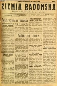 Ziemia Radomska, 1931, R. 4, nr 220