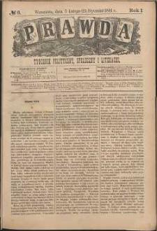 Prawda : tygodnik polityczny, społeczny i literacki, 1881, R. 1, nr 6