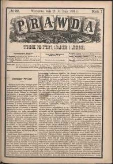 Prawda : tygodnik polityczny, społeczny i literacki, 1881, R. 1, nr 22