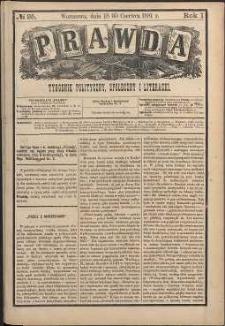 Prawda : tygodnik polityczny, społeczny i literacki, 1881, R. 1, nr 25