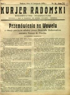 Kurier Radomski, 1939, R. 1, nr 11