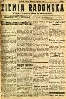 Ziemia Radomska, 1931, R. 4, nr 223