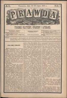 Prawda : tygodnik polityczny, społeczny i literacki, 1881, R. 1, nr 31