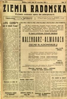 Ziemia Radomska, 1931, R. 4, nr 224
