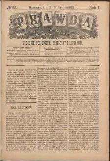 Prawda : tygodnik polityczny, społeczny i literacki, 1881, R. 1, nr 53