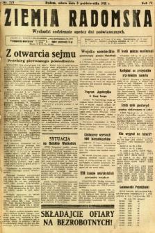 Ziemia Radomska, 1931, R. 4, nr 227