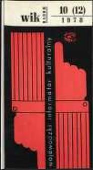 Wojewódzki Informator Kulturalny Radom, 1978, nr 10