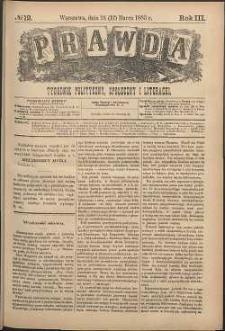Prawda : tygodnik polityczny, społeczny i literacki, 1883, R. 3, nr 12