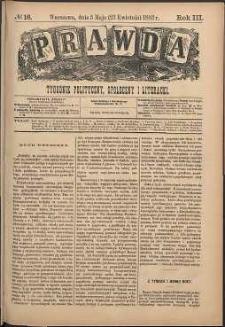 Prawda : tygodnik polityczny, społeczny i literacki, 1883, R. 3, nr 18