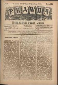 Prawda : tygodnik polityczny, społeczny i literacki, 1883, R. 3, nr 19