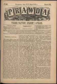 Prawda : tygodnik polityczny, społeczny i literacki, 1883, R. 3, nr 20