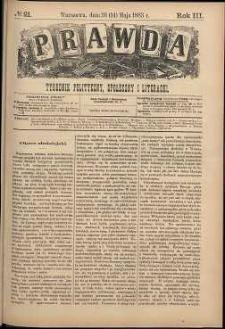 Prawda : tygodnik polityczny, społeczny i literacki, 1883, R. 3, nr 21