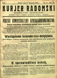 Kurier Radomski, 1939, R. 1, nr 12