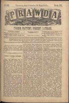 Prawda : tygodnik polityczny, społeczny i literacki, 1883, R. 3, nr 23
