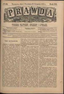 Prawda : tygodnik polityczny, społeczny i literacki, 1883, R. 3, nr 35
