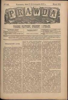 Prawda : tygodnik polityczny, społeczny i literacki, 1883, R. 3, nr 46