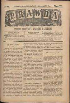 Prawda : tygodnik polityczny, społeczny i literacki, 1883, R. 3, nr 48
