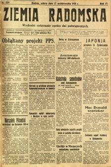 Ziemia Radomska, 1931, R. 4, nr 239