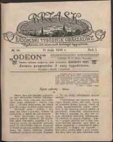 Brzask : Radomski Tygodnik Obrazkowy, 1916, R. 1, nr 19