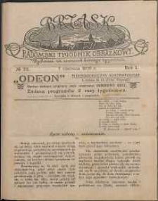 Brzask : Radomski Tygodnik Obrazkowy, 1916, R. 1, nr 22