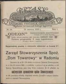 Brzask : Radomski Tygodnik Obrazkowy, 1916, R. 1, nr 24