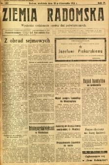 Ziemia Radomska, 1931, R. 4, nr 240