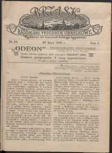 Brzask : Radomski Tygodnik Obrazkowy, 1916, R. 1, nr 29