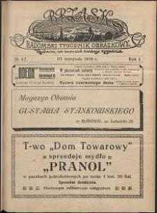 Brzask : Radomski Tygodnik Obrazkowy, 1916, R. 1, nr 47