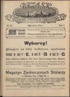 Brzask : Radomski Tygodnik Obrazkowy, 1916, R. 1, nr 49