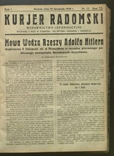 Kurier Radomski, 1939, R. 1, nr 13