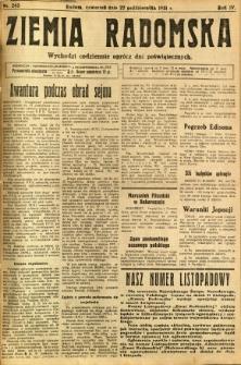Ziemia Radomska, 1931, R. 4, nr 243