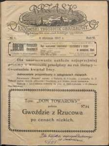 Brzask : Radomski Tygodnik Obrazkowy, 1917, R. 2, nr 1