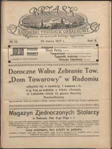 Brzask : Radomski Tygodnik Obrazkowy, 1917, R. 2, nr 12