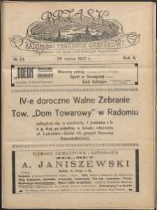 Brzask : Radomski Tygodnik Obrazkowy, 1917, R. 2, nr 13