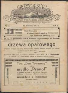 Brzask : Radomski Tygodnik Obrazkowy, 1917, R. 2, nr 15