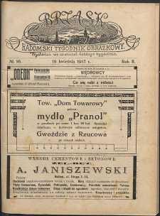 Brzask : Radomski Tygodnik Obrazkowy, 1917, R. 2, nr 16