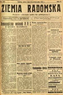 Ziemia Radomska, 1931, R. 4, nr 245