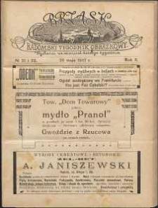 Brzask : Radomski Tygodnik Obrazkowy, 1917, R. 2, nr 21-22