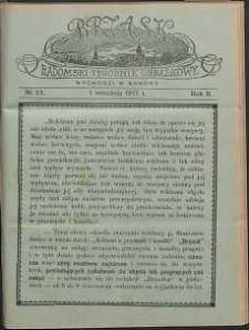 Brzask : Radomski Tygodnik Obrazkowy, 1917, R. 2, nr 23