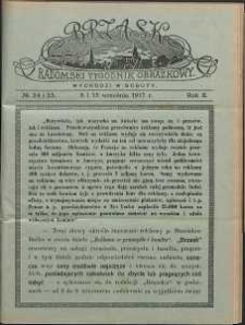 Brzask : Radomski Tygodnik Obrazkowy, 1917, R. 2, nr 24-25