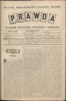 Prawda : tygodnik polityczny, społeczny i literacki, 1903, R. 23, nr 2