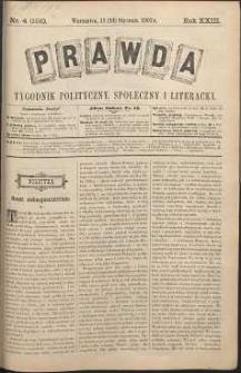 Prawda : tygodnik polityczny, społeczny i literacki, 1903, R. 23, nr 4