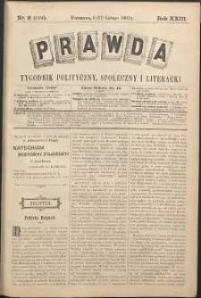 Prawda : tygodnik polityczny, społeczny i literacki, 1903, R. 23, nr 8