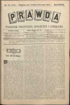 Prawda : tygodnik polityczny, społeczny i literacki, 1903, R. 23, nr 14