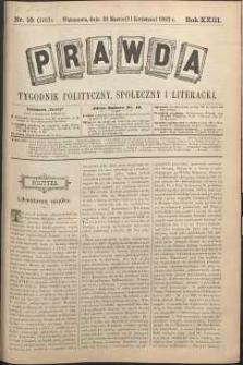 Prawda : tygodnik polityczny, społeczny i literacki, 1903, R. 23, nr 15
