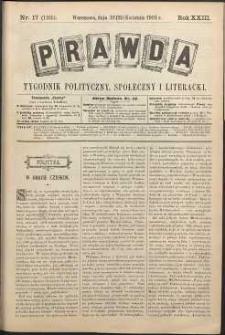 Prawda : tygodnik polityczny, społeczny i literacki, 1903, R. 23, nr 17