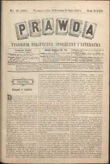 Prawda : tygodnik polityczny, społeczny i literacki, 1903, R. 23, nr 19